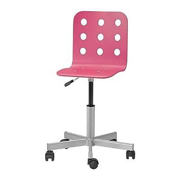 Ikea Jules Schreibtischstuhl Fur Kinder In Rosa Silberfarben