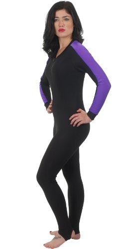 Phantom Aquatics Snorkeling Swim Lycra Skin Full Suit Wetsuit, Black/Twilight, Large ()