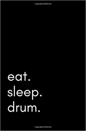 eat sleep drum 100 page lined journal paper notebook for friends funny note taking book christmas santa gift