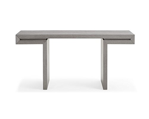 Whiteline CO1408-GRY Delaney Console Table, Medium/One Size, Gray (Sofa Delaney)