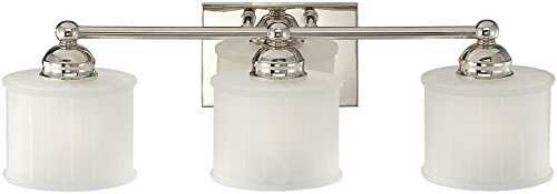 Minka Lavery Wall Light Fixtures 6733-1-613, 1730 Series Reversible Bath Vanity Lighting, 3 Light, 300w, Polished ()