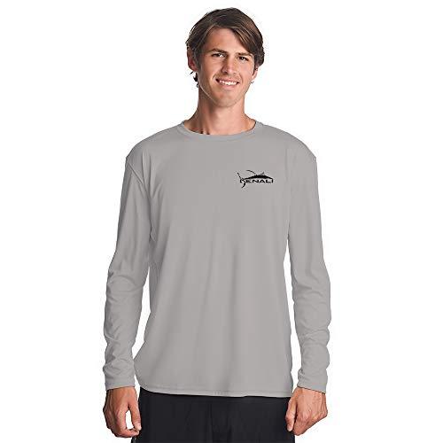 Denali Performance Men's Teaser-Tournament UPF 50+ ProtectUV Mega Solar Long Sleeve T-Shirt with Logo (Small, Light Grey)