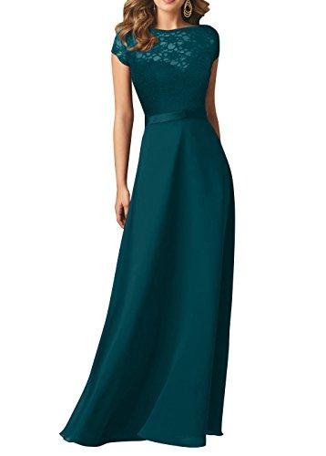 Elegant Brautmutterkleider Chiffon Tuerkis Brau Brautjungfernkleider Kleider Jugendweihe Abschlussballkleider Abendkleider mia Dunkel La Spitze qTEaa6