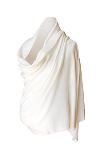 r Knit Wrap Shawl Stole Travel Wrap Off White ()