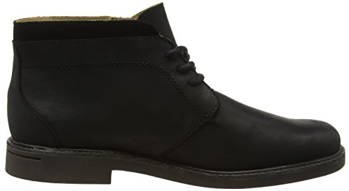 Sebago Turner, Stivali Chukka Uomo Nero (Black Leather Wp)