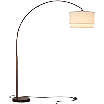 Brightech Logan Contemporary Arc Floor Lamp W Marble