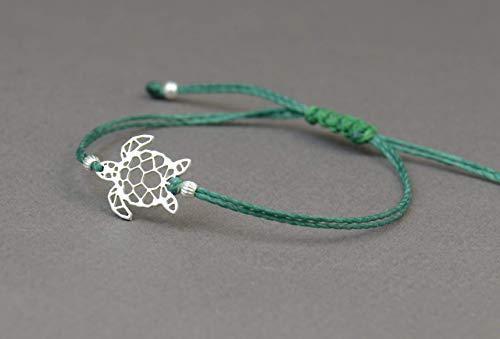 Sterling silver turtle charm bracelet.Mens or women gift.unisex bracelet