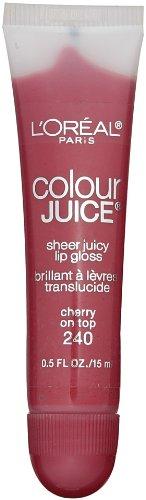 Loreal Colour Juice - L'Oreal Paris Colour Juice Sheer Juicy Lip Gloss, Cherry on Top, 0.5-Fluid Ounce