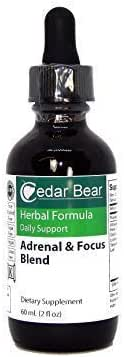 Cedar Bear Adrenal Focus a Liquid Herbal Supplement that Gently Soothes the Nervous System, and Helps Support the Body's Cognitive Function 2 Fl Oz
