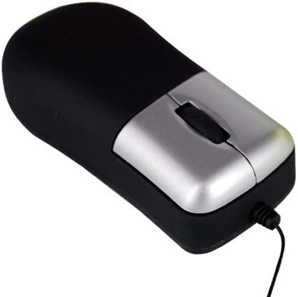 DDDF Accessotech Retractable Cable Mini Optical 3-Button USB Mouse Rolls for Laptop Notebook PC