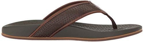 Skechers USA Mens Pelem Emiro Flat Sandal, Chocolate, 13 M US