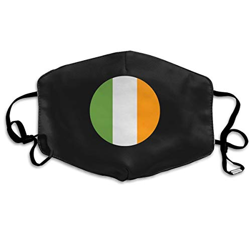 SDQQ6 Ireland Mouth Mask Unisex Printed Fashion Face Mask Anti-dust -