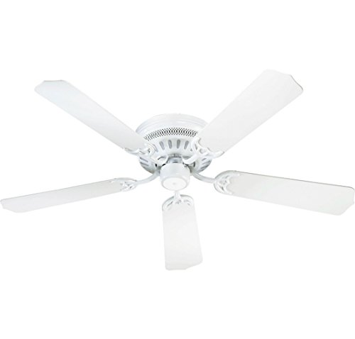"Quorum International 11425-6 Custom 5 Blade Ceiling Fan, 42"", White"