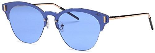 Mia Nova Sunglasses Retro Style   Flat Lens   Metal Frame   Butterfly - Sunglasses Nova