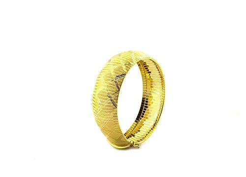 Bracelet modèle vintage bande large de 2cm, en argent sterling 925hypoallergénique, plaqué or jaune, longueur 19cm Poids grammes 29,90