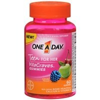 One A Day VitaCraves Teen Vitamins For Her Gummies, Assor...