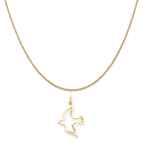 Yellow Gold Dove Charm - 2