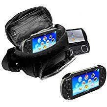 Orzly - Game & Console Travel Bag for Sony PSP Consoles (GO/VITA/1000/2000/3000) Has Special Compartments for Games & Accessories. Bag Includes Shoulder Strap + Carry Handle + Belt Loop - - 3000 Accessories