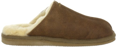 Shepherd HUGO 1201 - Zapatillas de casa para hombre Marrón (Antique/cognac 52)