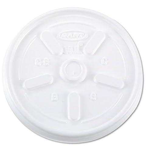 Dart Vented Plastic Hot Cup Lids, 10JL, 10 oz., White, 1000/Carton - Dart Vented Lid