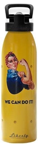 Liberty Bottleworks Ms. R Aluminum Water Bottle, Made in USA, 24oz, Saffron, Sport Cap