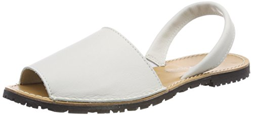 Abierto Blanco Mujer white 28916 De Talón Tamaris Sandalias Leather Para 7nwWIpnFq