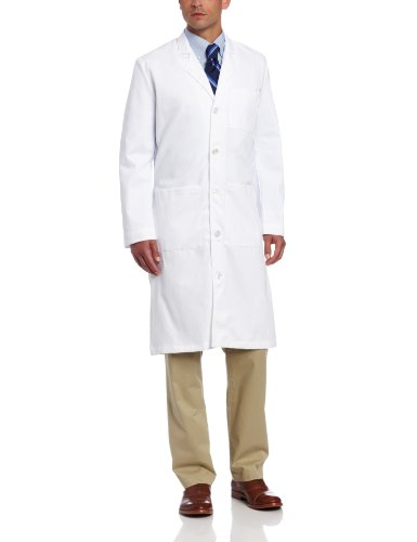 Landau Men's Traditional Scrub Lab Coat, White WWF, ()
