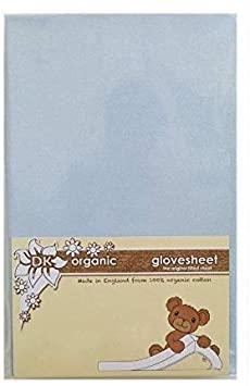 DK Glovesheet Bio Spannbetttuch f/ür Bedside Wiegen Blau