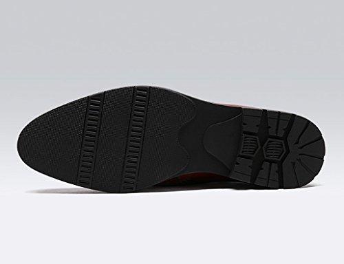 stile Uomo cotone Pelle corto rosso Vino Martin da Nero EU39 Stivali invernali Scarpe UK6 britannico Scarpe alte in pelle dimensioni in uomo in Scarpe in Colore TqxdTP