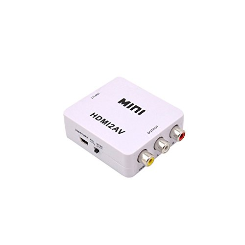 Buy HDMI to RCA,Audio Video Composite HD Converter Adapter for 3RCA CVBS HDMI to AV - Supports NTSC ...