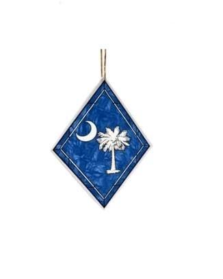 The Memory Company Palmetto Moon Art-Glass Ornament