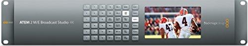Blackmagic Design ATEM 2 M/E Broadcast Studio 4K Switcher, 20 x 12G-SDI Re-Synchronized Inputs by Blackmagic Design