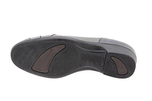 Calzado mujer confort de piel Piesanto 9609 zapato mocasín casual cómodo ancho Negro