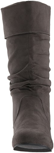 Brinley Co Womens Marden-01 Slouch Boot Grigio