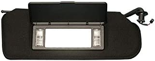Ecklers Premier Quality Products 25-155977 Corvette Sunvisor Left Black With Lighted Vanity Mirror