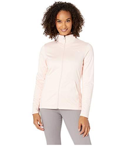 (The North Face Women's Tech Mezzaluna Full Zip Pink Salt Heather Large)