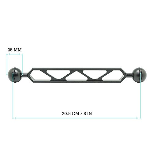 "8""/20.5cm Double 1"" Ball Arm for Connecting Strobe/Video Lig"