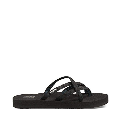 Teva Women's Olowahu Flip-Flop - 8 B(M) US - Mix Black on Black