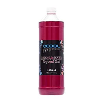 Alphacool 18544 Eiswasser Crystal Red UV-Active premixed coolant 1000ml Water Cooling Water additives