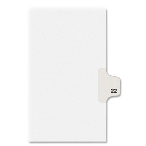 Wholesale CASE of 25 - Kleer-Fax Numeric Laminated Side Tab Index Div.-Index Dividers,Number 22,Side Tab,1/25 Cut,Letter,25/PK,WE