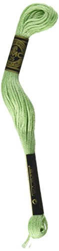 Dmc 117 164 Mouline Stranded Cotton Six Strand Embroidery Floss Thread  Light Forest Green  8 7 Yard
