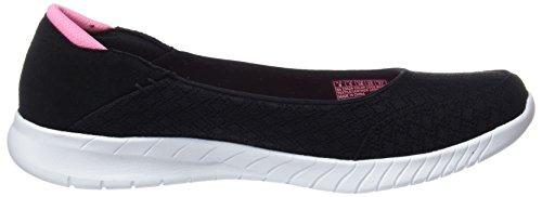 Black Lite It Baskets Wave Mention Don't Skechers Noir Pink Femme qv86Px