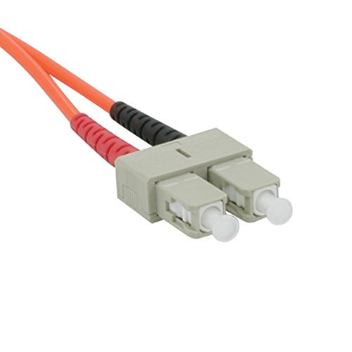 C2G 09168 OM1 Fiber Optic Cable - SC-SC 62.5/125 Duplex Multimode PVC Fiber Cable, Orange (49.2 Feet, 15 Meters)