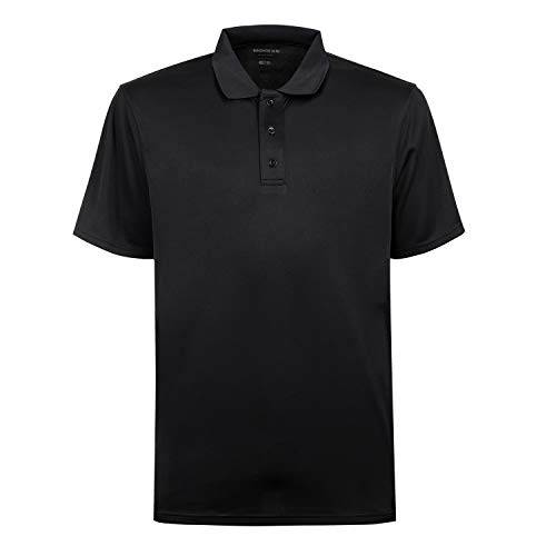 - Men's Cool Dri Men's Performance Polo Shirt Black XXL