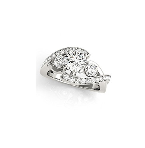 14k White Gold 1.55Ct VVS1 Claruty Round Cut Diamond Engagement Wedding Anniversary Love Party Ring US Size 4-13 Available. 14k Vvs1 Ring