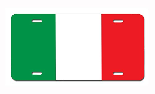 Carpe Diem Designs Italy Flag Vanity/Novelty License Plate by, Made in the U.S.A. … by Carpe Diem Designs