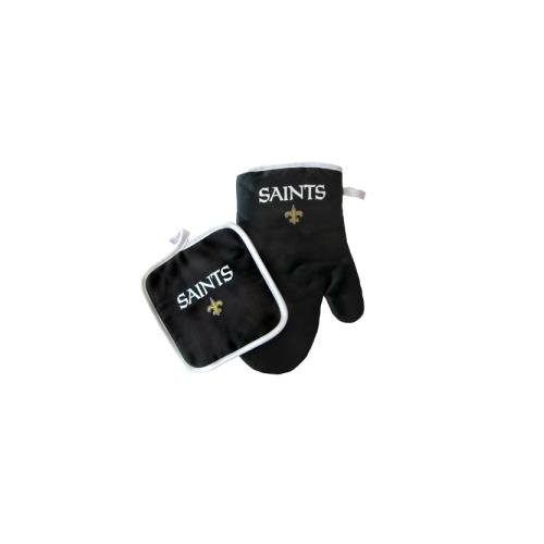 Pro Specialties Group PSG-Z224956 New Orleans Saints NFL Oven Mitt and Pot Holder Set