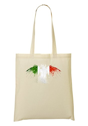 Italy Eagle Flag Handbag Shopping Bag