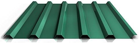 Chapa trapezoidal, perfil PS35/1035TRA para techo, material de acero, grosor 0,50 mm, revestimiento de 25 µm, color verde: Amazon.es: Bricolaje y herramientas