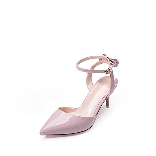 Sandale,Sweet Butterfly Knot Korean Shoes,Wies Stilettos High Heels-B Fußlänge=22.8CM(9Inch)